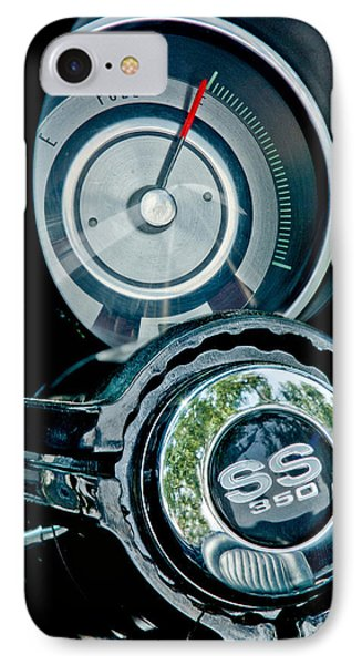 1967 Chevrolet Camaro  Ss Steering Wheel Emblem Emblem Phone Case by Jill Reger