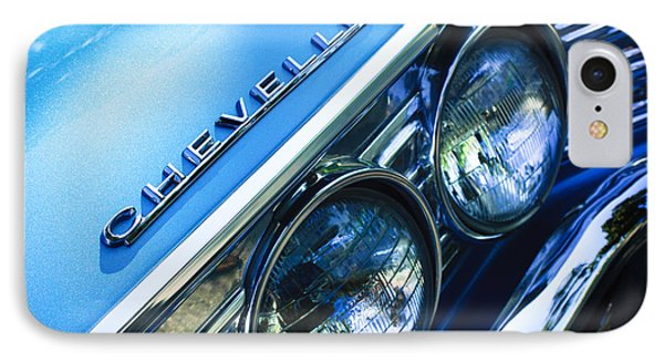 1967 Chevrolet Chevelle Malibu Head Light Emblem IPhone Case by Jill Reger