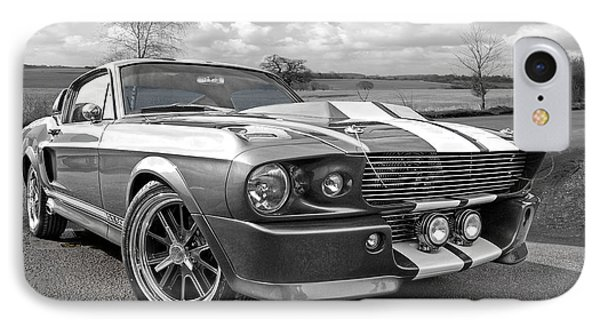 1967 Eleanor Mustang In Black And White IPhone Case by Gill Billington