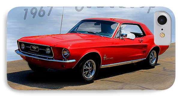 1967 Ford Mustang Hardtop IPhone Case