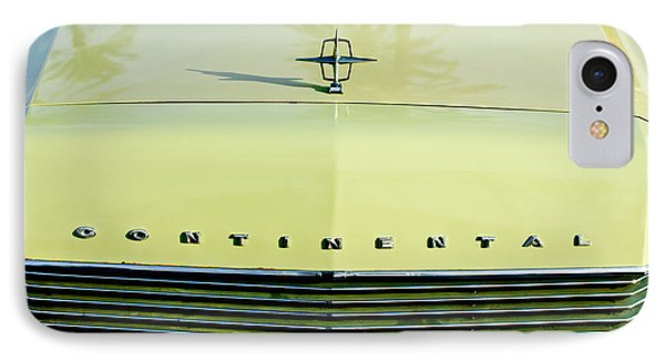 1967 Lincoln Continental Grille Emblem - Hood Ornament IPhone Case by Jill Reger