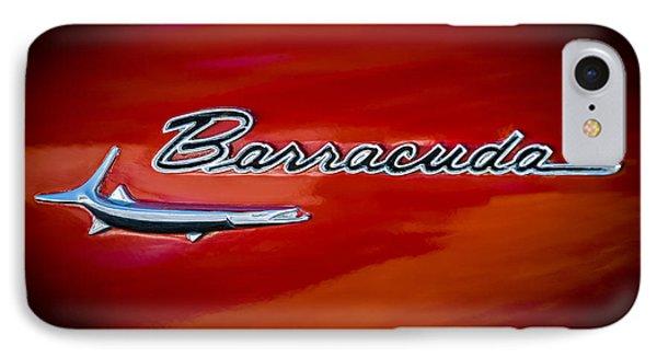 1967 Plymouth Barracuda Emblem IPhone Case by Jill Reger