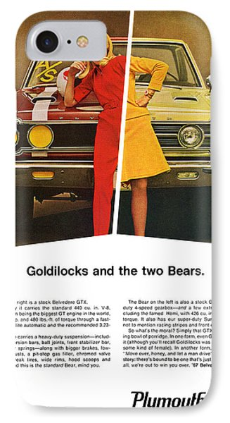 1967 Plymouth Gtx - Goldilocks And The Two Bears. Phone Case by Digital Repro Depot
