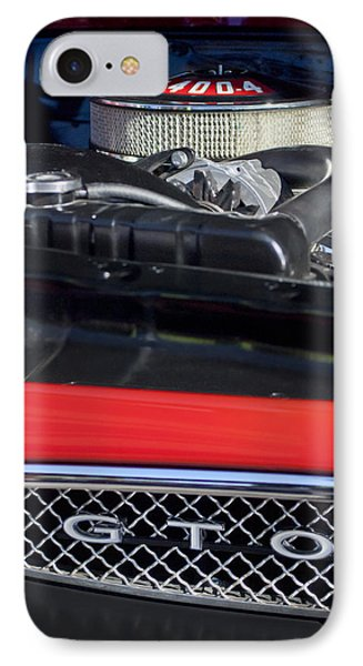 1967 Pontiac Gto Engine Emblem Phone Case by Jill Reger