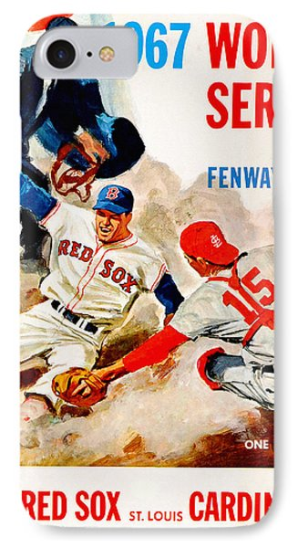 1967 World Series Program IPhone Case by Big 88 Artworks