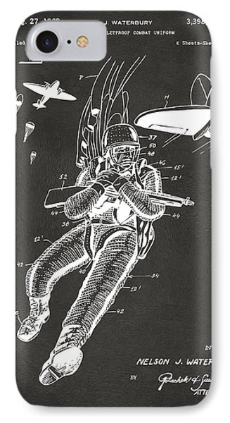 1968 Bulletproof Patent Artwork Figure 14 Gray IPhone Case by Nikki Marie Smith