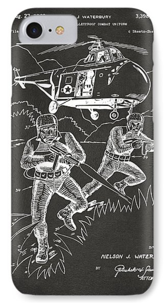 1968 Bulletproof Patent Artwork Figure 15 Gray IPhone Case by Nikki Marie Smith