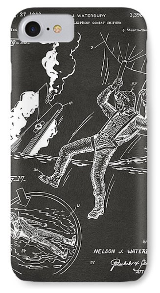 1968 Bulletproof Patent Artwork Figure 16 Gray IPhone Case by Nikki Marie Smith