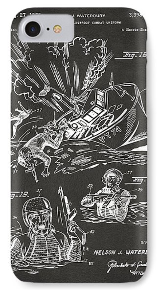 1968 Bulletproof Patent Artwork Figure 18 Gray IPhone Case by Nikki Marie Smith