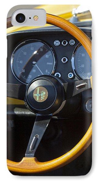 1969 Alfa Romeo 1750 Spider Steering Wheel Phone Case by Jill Reger