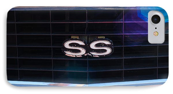 1969 Chevrolet Camaro Rs-ss Indy Pace Car Replica Grille Emblem Phone Case by Jill Reger