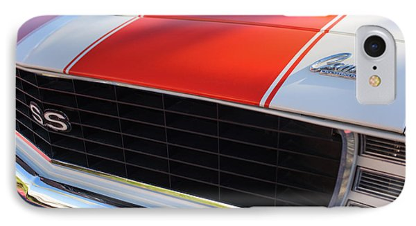 1969 Chevrolet Camaro Rs-ss Indy Pace Car Replica Grille - Hood Emblems Phone Case by Jill Reger