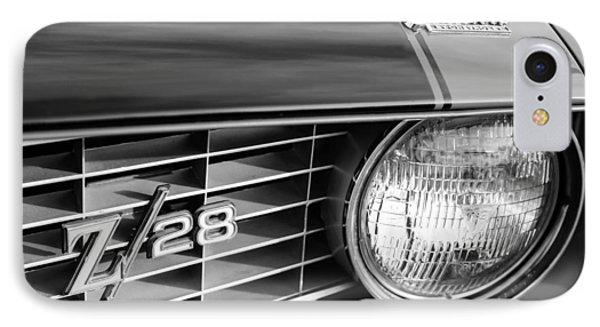 1969 Chevrolet Camaro Z-28 Grille Emblems Phone Case by Jill Reger