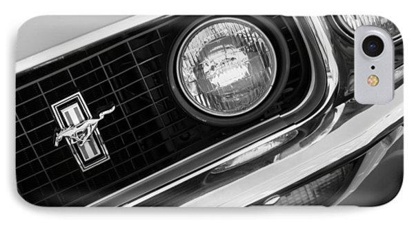 1969 Ford Mustang Boss 429 Grill Emblem Phone Case by Jill Reger