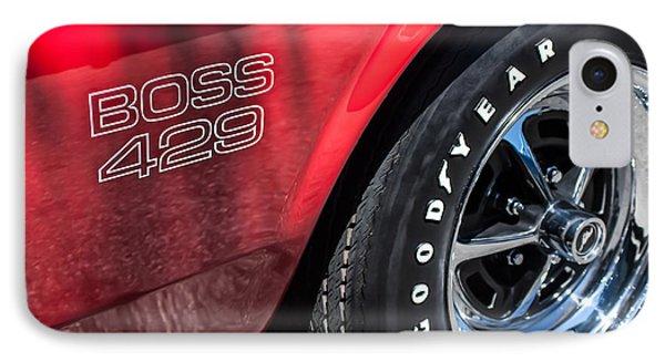 1969 Ford Mustang Boss 429 Sportsroof Side Emblem - Wheel Phone Case by Jill Reger