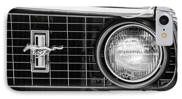 1969 Ford Mustang Mach 1 Grille Emblem Phone Case by Jill Reger