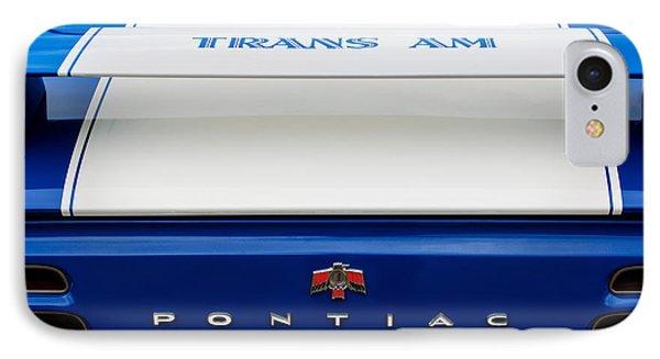 1969 Pontiac Trans Am Tail Fin Emblem Phone Case by Jill Reger