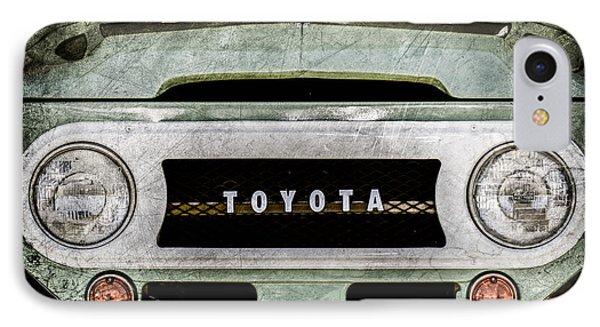 1969 Toyota Fj-40 Land Cruiser Grille Emblem -0444ac IPhone Case