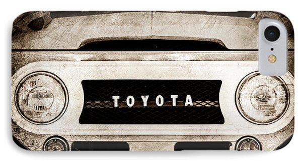 1969 Toyota Fj-40 Land Cruiser Grille Emblem -0444s IPhone Case