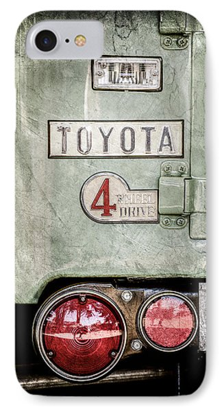 1969 Toyota Fj-40 Land Cruiser Taillight Emblem -0417ac IPhone Case