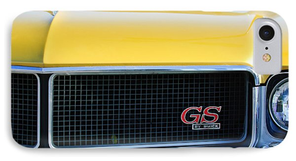 1970 Buick Gs Grille Emblem Phone Case by Jill Reger