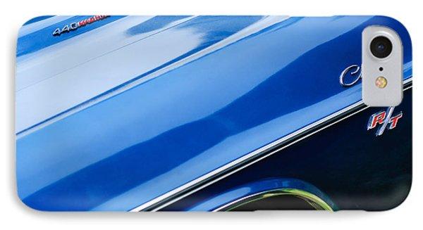 1970 Dodge Challenger Rt Convertible Emblems Phone Case by Jill Reger