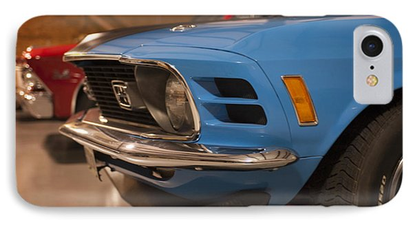 1970 Mustang Mach 1 And Other Classics Hidden In A Garage IPhone Case