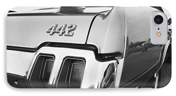 1970 Olds 442 Black And White IPhone Case