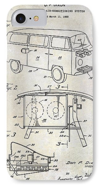 1970 Vw Patent Drawing IPhone Case by Jon Neidert