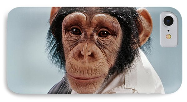 1970s Close-up Face Chimpanzee Looking IPhone 7 Case