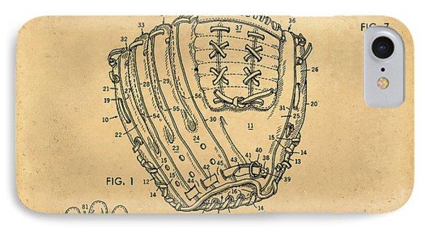 1971 Baseball Glove Patent Art Latina For Rawlings 1 IPhone Case