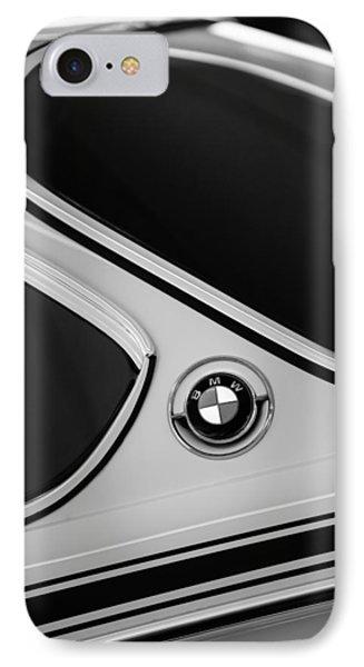 1971 Bmw 3.0csl Lightweight Prototype - Side Emblem -0476bw IPhone Case by Jill Reger