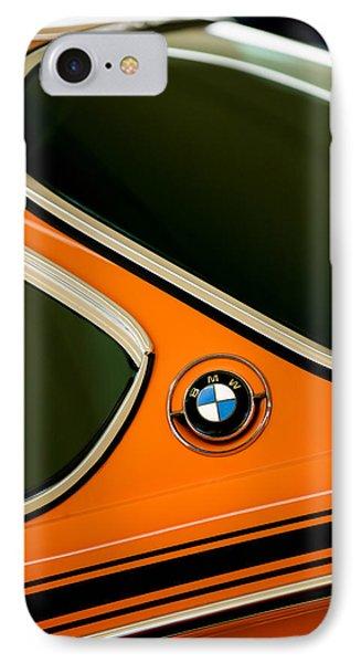 1971 Bmw 3.0csl Lightweight Prototype - Side Emblem -0476c IPhone Case by Jill Reger