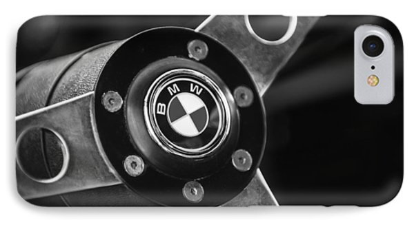 1971 Bmw 3.0csl Lightweight Prototype - Steering Wheel Emblem -0498bw IPhone Case by Jill Reger