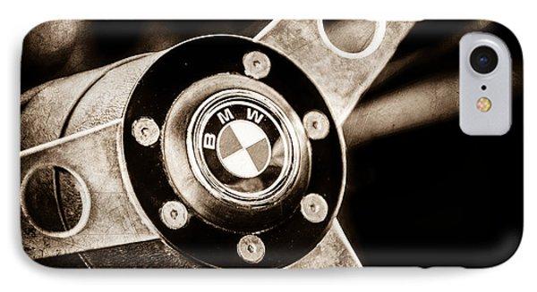 1971 Bmw 3.0csl Lightweight Prototype - Steering Wheel Emblem -0498s IPhone Case by Jill Reger