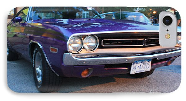 1971 Challenger Front And Side View Phone Case by John Telfer