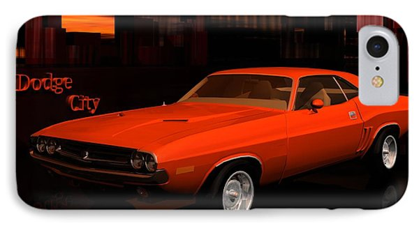 1971 Challenger IPhone Case by John Pangia