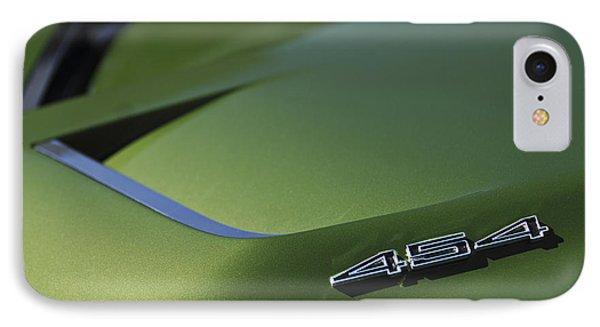 1972 Chevrolet Corvette Convertible Stingray 454 Hood IPhone Case by Jill Reger