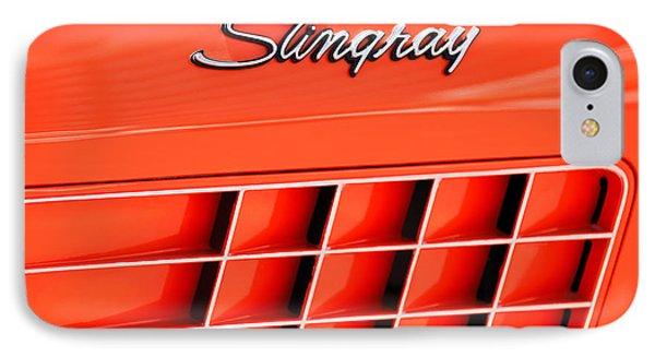 1972 Chevrolet Corvette Stingray Emblem 3 Phone Case by Jill Reger