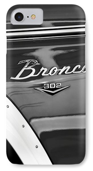 1972 Ford Bronco Emblem IPhone Case by Jill Reger