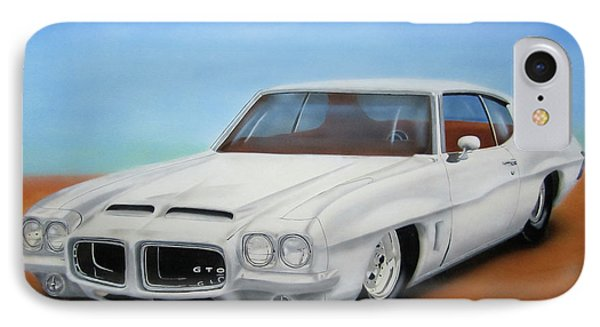 IPhone Case featuring the painting 1972 Pontiac Gto by Thomas J Herring