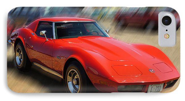IPhone Case featuring the photograph 1973 Corvette by B Wayne Mullins