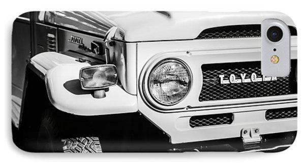 1973 Toyota Fj40 Land Cruiser Grille Emblem -1918bw IPhone Case