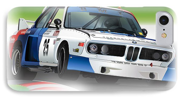 1975 Imsa Bmw 3.5csl IPhone Case