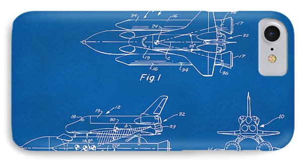 1975 Space Shuttle Patent - Blueprint IPhone 7 Case