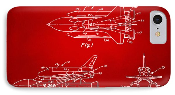 1975 Space Shuttle Patent - Red IPhone 7 Case