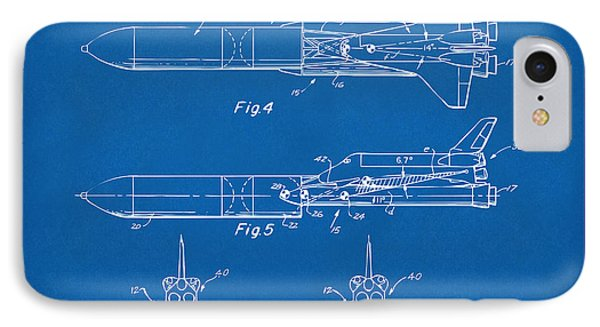 1975 Space Vehicle Patent - Blueprint IPhone 7 Case