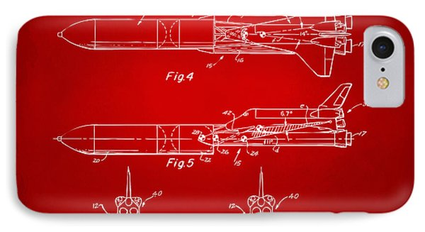 1975 Space Vehicle Patent - Red IPhone 7 Case