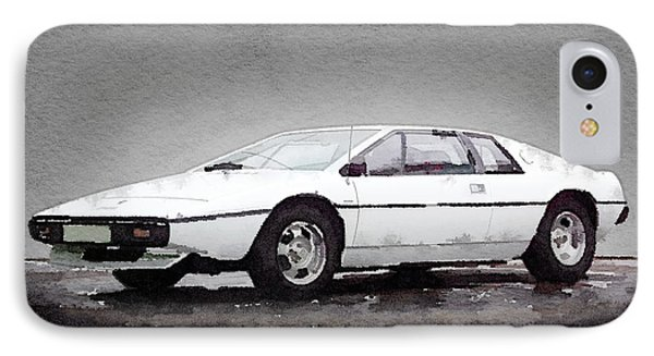1976 Lotus Esprit Coupe IPhone Case by Naxart Studio