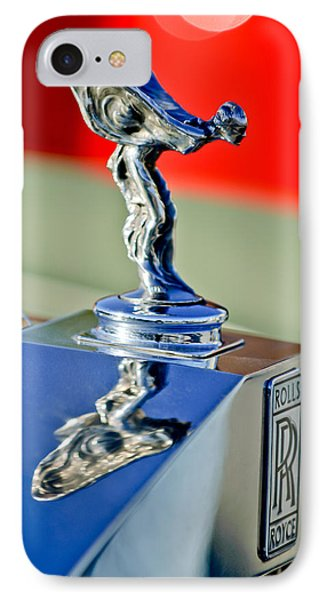 1976 Rolls Royce Silver Shadow Hood Ornament IPhone Case by Jill Reger